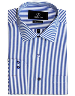 Medium Blue/White striped dress shirt