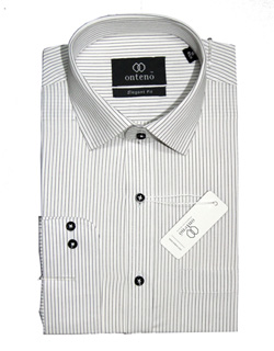 White shirt with black striped