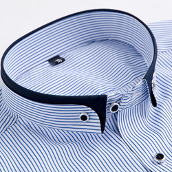 Blue Stripes collar closeup